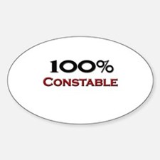 100 Percent Constable Oval Decal