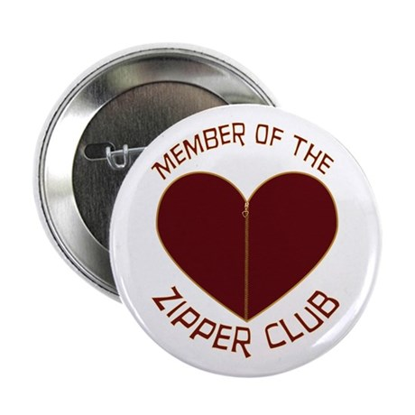"Zipper Club 2.25"" Button"