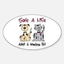 Adopt A Homeless Pet Oval Sticker (10 pk)