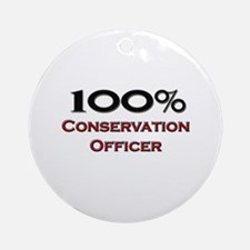 100 Percent Conservation Officer Ornament (Round)