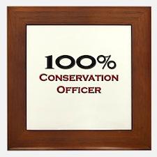 100 Percent Conservation Officer Framed Tile