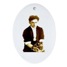 Houdini's Ghost Oval Ornament