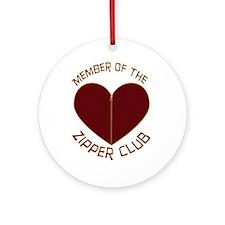 Zipper Club Ornament (Round)