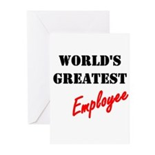World's Greatest Employee Greeting Cards (Package