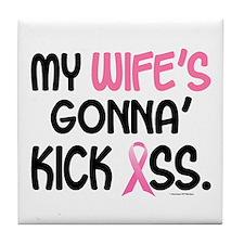 Gonna' Kick Ass 1 (Wife) Tile Coaster