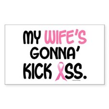 Gonna' Kick Ass 1 (Wife) Rectangle Decal