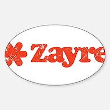 Zayre Discount Bin Oval Decal