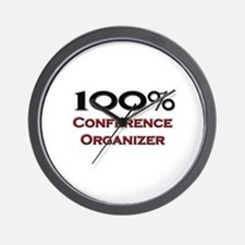 100 Percent Conference Organizer Wall Clock