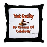 Not Guilty By Reason Of Celeb Throw Pillow