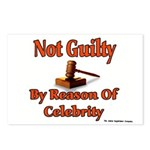Not Guilty By Reason Of Celeb Postcards (Package o