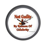 Not Guilty By Reason Of Celeb Wall Clock