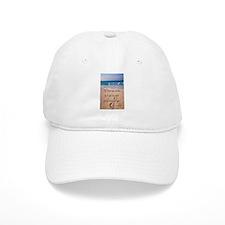 Footprints in Sand-Emerson Baseball Cap