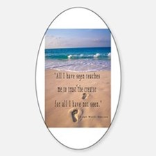 Footprints in Sand-Emerson Oval Decal