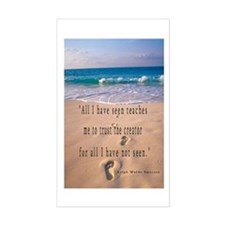 Footprints in Sand-Emerson Rectangle Decal