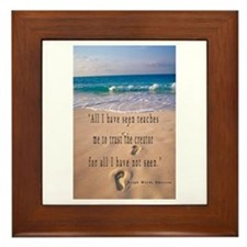 Footprints in Sand-Emerson Framed Tile