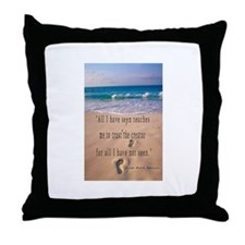 Footprints in Sand-Emerson Throw Pillow