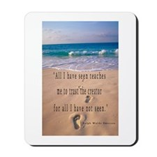 Footprints in Sand-Emerson Mousepad