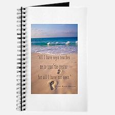 Footprints in Sand-Emerson Journal