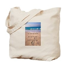 Footprints in Sand-Emerson Tote Bag