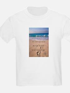 Footprints in Sand-Emerson T-Shirt