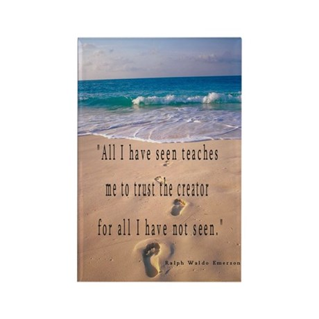 Footprints in Sand-Emerson Rectangle Magnet (10 pa