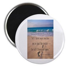 "Footprints in Sand-Emerson 2.25"" Magnet (10 p"
