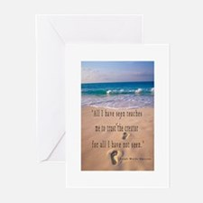 Footprints in Sand-Emerson Greeting Cards (Pk of 1