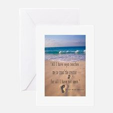 Footprints in Sand-Emerson Greeting Card