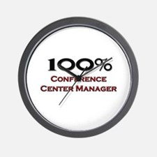 100 Percent Conference Center Manager Wall Clock