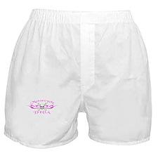 Motorcycle Diva - Pink Boxer Shorts