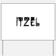 Itzel Faded (Black) Yard Sign