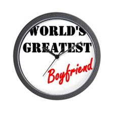 World's Greatest Boyfriend Wall Clock