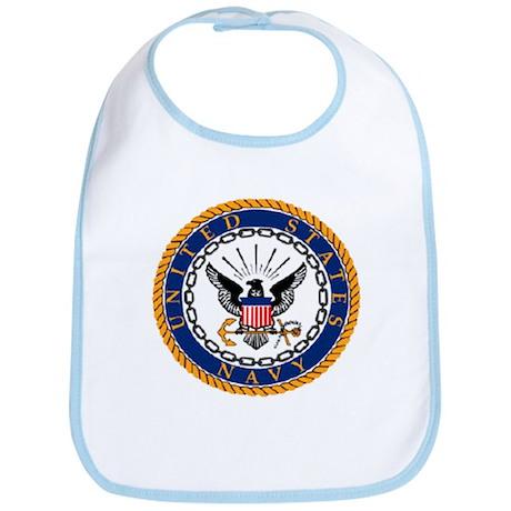 Navy Emblem Bib