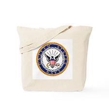 Navy Emblem Tote Bag