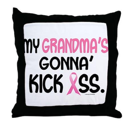 Gonna' Kick Ass 1 (Grandma) Throw Pillow