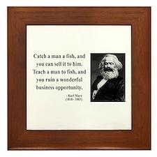 Karl Marx 4 Framed Tile