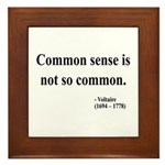 Voltaire Text 11 Framed Tile