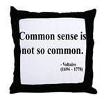 Voltaire Text 11 Throw Pillow