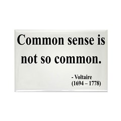 Voltaire Text 11 Rectangle Magnet