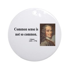 Voltaire 11 Ornament (Round)