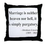 Abraham Lincoln 34 Throw Pillow