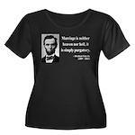 Abraham Lincoln 34 Women's Plus Size Scoop Neck Da