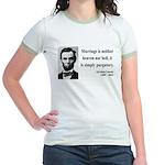 Abraham Lincoln 34 Jr. Ringer T-Shirt