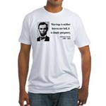 Abraham Lincoln 34 Fitted T-Shirt