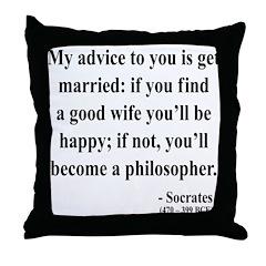 Socrates 14 Throw Pillow