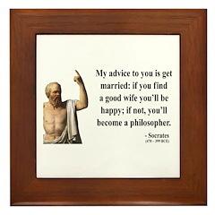 Socrates 14 Framed Tile