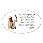 Socrates 14 Oval Sticker