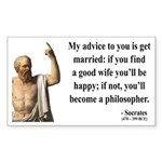 Socrates 14 Rectangle Sticker