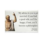 Socrates 14 Rectangle Magnet