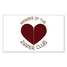 Zipper Club Rectangle Sticker 50 pk)